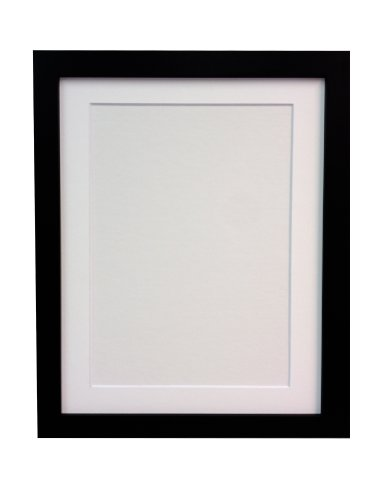 Edge 8x10 Foto (Frames By Post  25 mm breiter H7 Bild-/Fotorahmen mit weißem Passepartout 12 x 10 Zoll für Bildgröße 10 x 8 Zoll, schwarz)