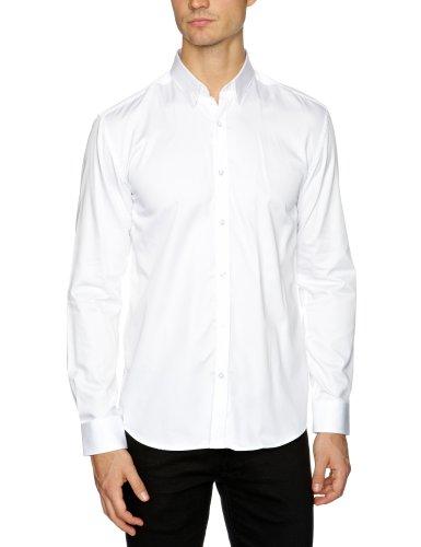 Selected Herren Slim Fit Businesshemd Weiß - Weiß