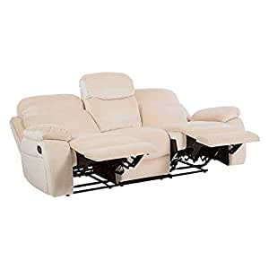 Pithadai Group Recliner 3 Seater Leather Fabric Settee