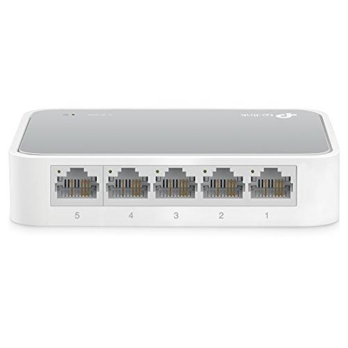 TP-Link TL-SF1005D Switch 5 Ports 10/100Mbps (Bureau, Boîtier Plastique)