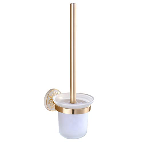 WC-Bürsten & Halter WC-Bürste Mattiert Cup Space Aluminium Weiß Geschnitzt Wandbehang WC-Bürstenhalter Lange Leichte Und Kleine Reinigungsbürste Set (Color : Weiß, Size : 36cm)