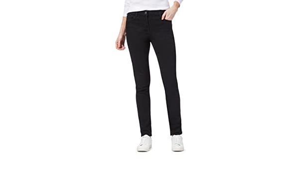 c792acd0e14e The Collection Womens Black Mid-Rise Slim Jeans 10S: Amazon.co.uk: Clothing