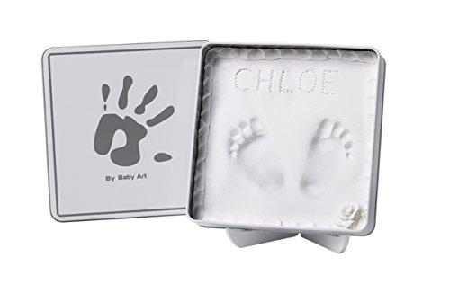 Baby Art 34120159 Magic Box für 3D-Abdruck in dekorativer Metall-Geschenkdose, weiß