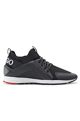 HUGO Damen Sneaker Hybrid_Runn_knmx Schwarz 39