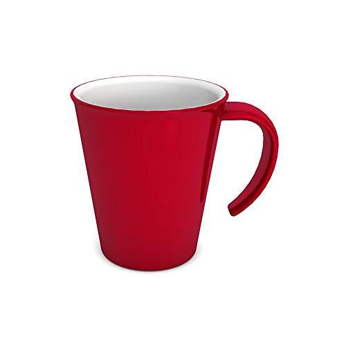Ornamin Kaffeepott 300 ml rot (Modell 1201) / Kaffeebecher, Mehrwegbecher Kunststoff Camping-tasse