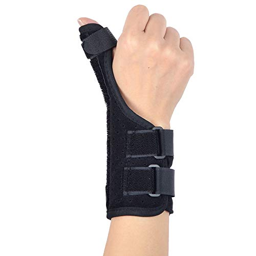 Langlebige flexible Sportschutzausrüstung Daumenschiene Stabilisator Handgelenkstütze mit verstellbaren Befestigungsgurten zur Behandlung von Arthritis, Verstauchungen, Verstauchungen, Daumenabzug, Ka - Muskel Verstauchungen Behandlung