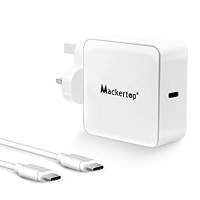 Mackertop 61W 29W USB C Power Adapter Charger for New MacBook Pro 13 inch 2016, MacBook 12 inch 2015 and More, with 2M USB-C to USB-C Charge Cable