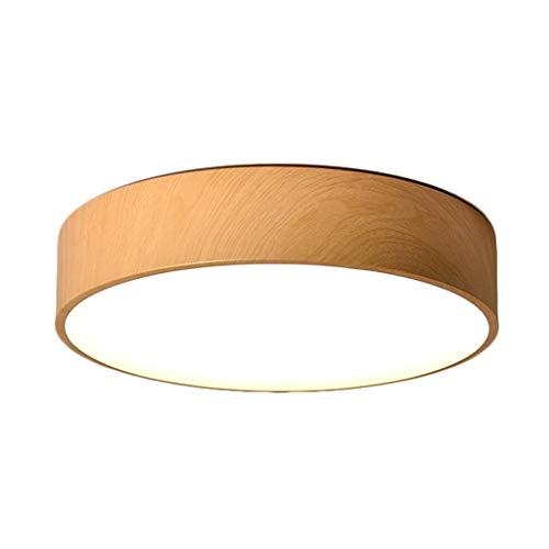 ZR Simple lámpara de Techo de Grano de Madera LED, Exquisito Cuerpo...