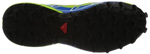 Salomon Speedcross Pro, Chaussures de trail homme Multicolore (Granny Green/Union Blue/White)