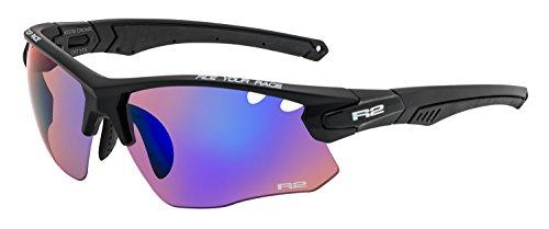 R&R Multi-Sportbrille Crown | Sonnenbrille | Radbrille | Skibrille mit Wechselgläser oder selbsttönend (schwarz, Wechselgläser)