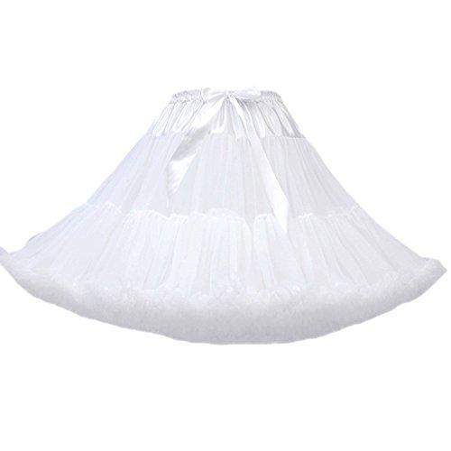 FOLOBE Frauen Tutu Rock Prinzessin Mesh Puff Petticoat Fluffy Pettiskirts 40 cm / 16 in Tutu Puff