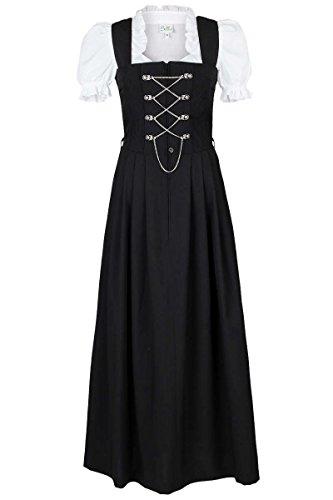 Country Line Damen Damen Dirndl lang schwarz 'Ottilie', schwarz, 52