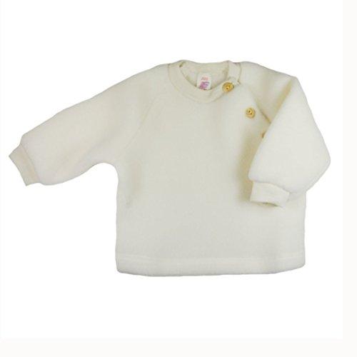 Baby Pulli Fleece, Schurwolle, Engel Natur, Gr. 50/56, Natur (Schurwolle Pullover)