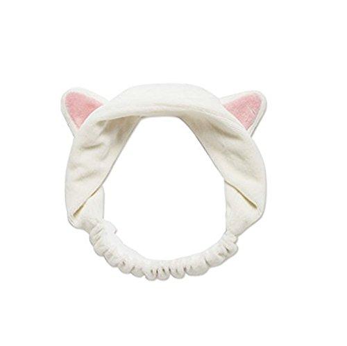 vovotrade Nette Harajuku Stirnband Katze Ohren Kopf Lovely Etti Haar Band (Lilly Pulitzer-weiß-baumwolle)