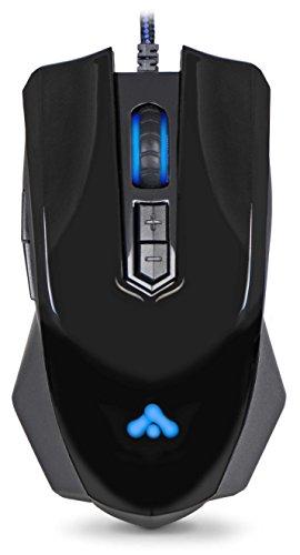 Preisvergleich Produktbild DONZO SI-969 kabelgebundene optische Gaming Maus (3200 DPI,  7 Tasten,  LED Beleuchtung,  USB) schwarz