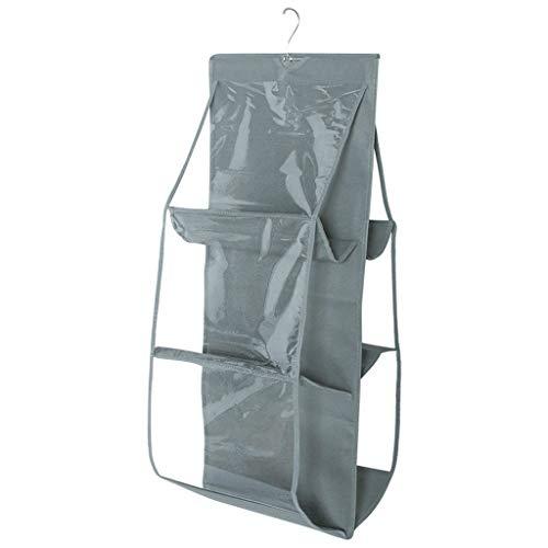 Kleidung Aufbewahrung,Rifuli®Schrank Lagerregal Personal Organizer Aufbewahrungstasche Staubdichte Aufbewahrungstasche 6 Grid Handbag Wardrobe Storage
