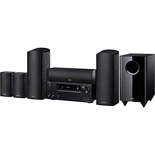 Onkyo HT-S7805(B) 5.1 Heimkinosystem mit AV Receiver und Lautsprecher (160 W/Kanal, Multiroom, Dolby Atmos, WLAN, Bluetooth, Streaming, Musik Apps Spotify, Tidal, Deezer, Internetradio), Schwarz