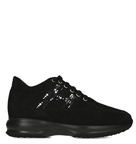Hogan hi top sneakers donna hxw00n0as80cr0b999 pelle nero e05535de6f3