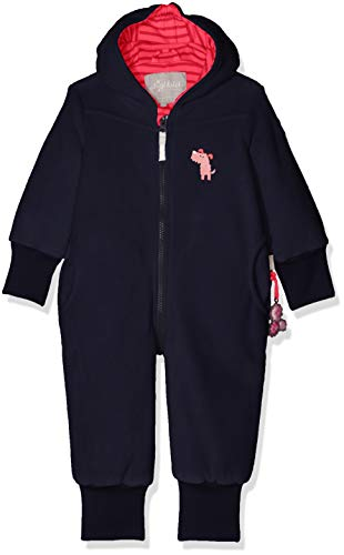 Sigikid Mädchen Fleece Overall, Baby Schneeanzug, Blau (Mood Indigo 275), 80 (Kleine Hunde-winter Overall)