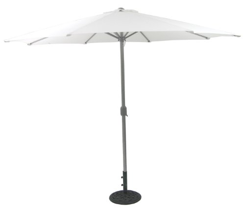 Ombrellone Ombrello Bar Giardino Mare Piscina Alluminio Bianco ø 3 m