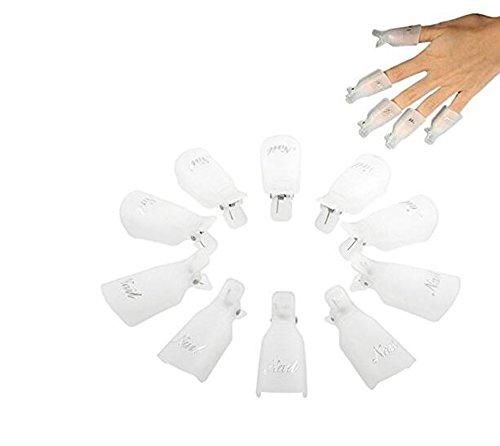 Scrox 10 Pcs Vernis à Ongles Clip de Nettoyage Outils à Ongles Peut être recyclé Outil de réparation des Ongles (Blanc)