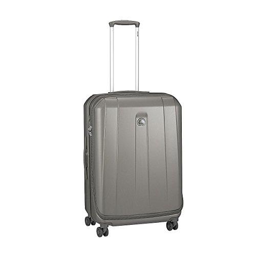 4 ruote valigia trolley dimensione M 69 cm estensibile argento, marchio francese Delsey collezione Helium Shadow