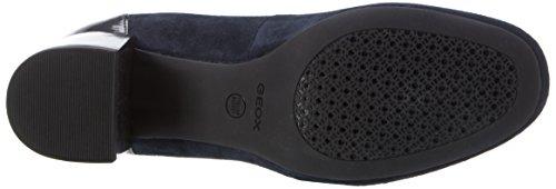 Geox D Audalies Mid C, Scarpe con Tacco Donna Blu (DK NAVY/BLACKC4367)