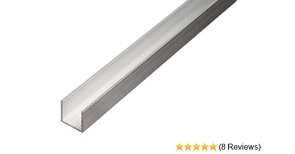 473839 16 x 13mm silberfarbig Alberts Alu-U-Profil 1000