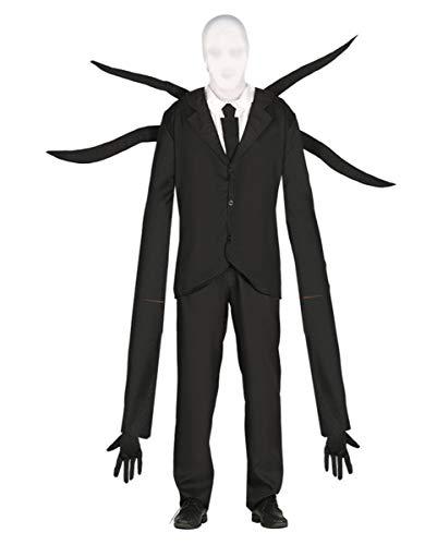 Horror-Shop Creepy Slenderman Kostüm mit Mütze L (Halloween Slenderman Kostüme)