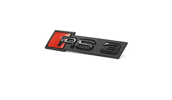 Original RS3 Logo Blackline Tuning Anneaux Embl/ème Noir