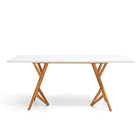 Table de Salle à Manger Design Scandinave Dewarens Vispa