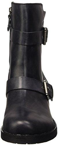 Geox D NEW VIRNA E, Bottes de motard courtes, doublure froide femme Grau (ANTHRACITEC9004)