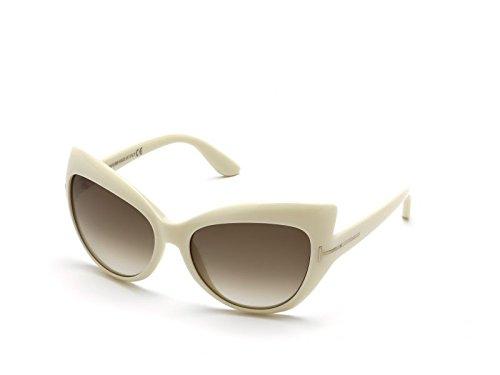 Tom Ford Für Frau 0284 Bardot Ivory / Gradient Brown Kunststoffgestell Sonnenbrillen