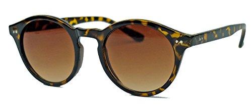 Retro Sonnenbrille 50er Jahre Vintage Look Pantobrille Hornbrille schwarz braun V60 (Tortoise Shell) (Retro Outfits 60er 70er Jahre)
