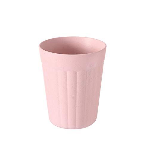 Eco-friendly Kaffee (Bambusfaser Trinkbecher für Kinder, für Milch Saft Wasser Non Toxic Biologisch abbaubare Eco Friendly für Kinder Spülmaschinenfest Großes Geschenk für Baby-1PC (Pink))