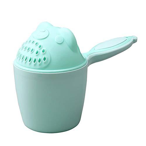 Deanyi 9.5 * 10.7cm kreative nette Bären Muster Baby Badewanne Rinser Wasser Scoop verdickte Schöpfkelle Dusche Sprinkler Griff Shampoo Scoops Dusche Zubehör für Baby Green baby toys -