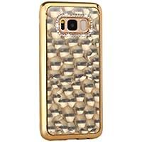 Samsung A7 2017 Funda, Galaxy A720 Funda, SevenPanda 4D Capa Piedra Colorida Flexible Gel Suave TPU Funda Silicona Funda de Protección Bumper Funda Moda Bling Glitter Funda TPU con Diamante de Caja para Niñas Damas - Oro