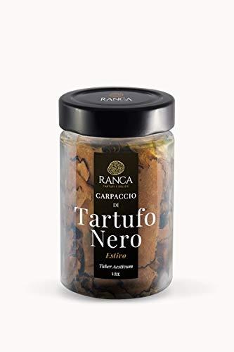 Carpaccio di tartufo nero in olio extravergine d'oliva