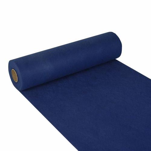 """Papstar, Tischläufer, stoffähnlich, Vlies """"soft selection"""" 24 m x 40 cm dunkelblau auf Rolle, #84321"""