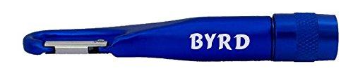 Personalisierte Taschenlampe mit Karabiner mit Aufschrift Byrd (Vorname/Zuname/Spitzname)
