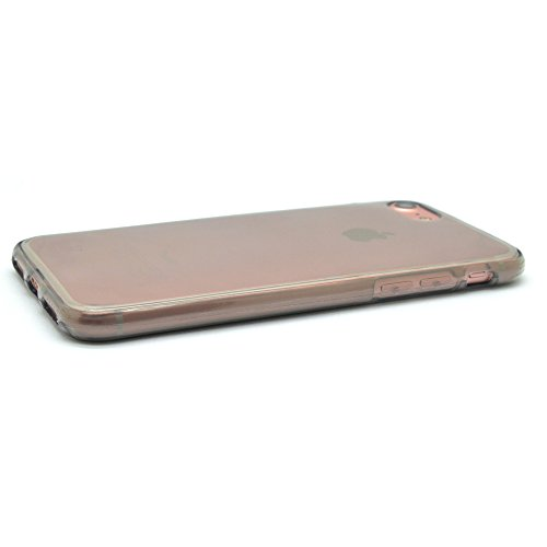 iProtect iPhone 7 e iPhone 8 Clear Crystal Soft Case custodia in TPU 0,3mm trasparente Softcase grigio