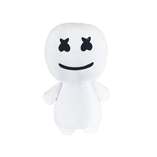 Saniswink Lovely DJ Marshmello Weiches Plüsch Spielzeug Kinder Geschenk Halloween Party Ornament Schwarz