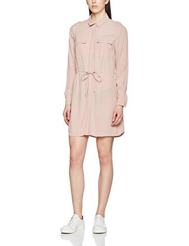 New Look Damen Standard-Kleider Utility Shirt Mini, Pink (Mid Pink), Gr. 38 (Herstellergröße: 10)