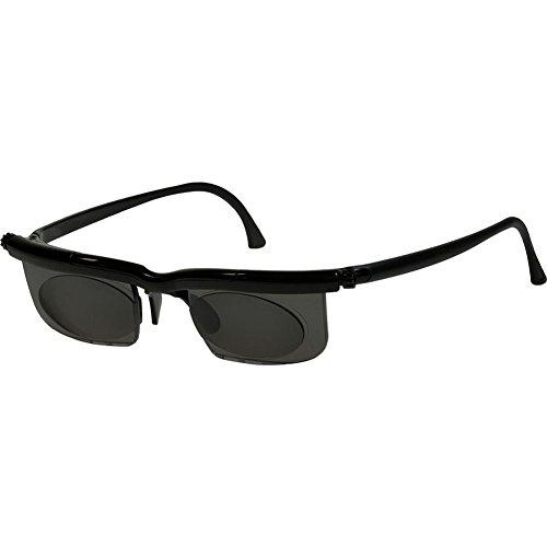 HC Handel 936187 Adlens-Sonnenbrille mit einstellbaren Gläsern von -6 bis +3 Dioptrien - schwarz