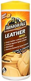 ArmorAll Leather Wipes 24 Wipes, GAA39024EN, H8.2 x W22 x D7.8 cm, Orange