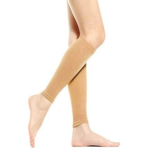 Kompressions-Strümpfe der Frauen-680D, wärmere dünne Bein-Former-Socken, Kompression Burn Fat Calves Socken für das Schwellen Ödem/Abnehmen Fleischfarbe