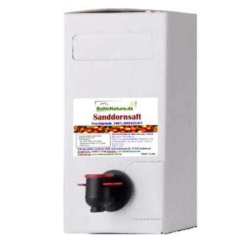100% iger Sanddornsaft 3 Liter Bag in Box Sanddorn Saft (Saft-auslauf)