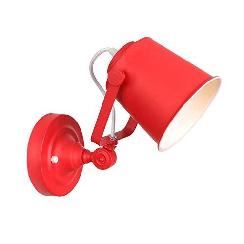 Bar Wandlampe 1-Licht, Vintage Verstellbare Industrie Schmiedeeisen Wandleuchte, Wandleuchte Für Schlafzimmer Arbeitszimmer Western Restaurant, Max 40W,Rot -