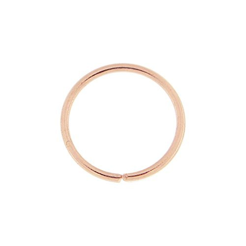 SMALL FAKE NOSE RING HOOP SEPTUM RING CARTILAGE TRAGUS HELIX CONCH DAITH EARRING 6MM ROSE GOLD (Fake Nose Hoop Ringe 1 4)