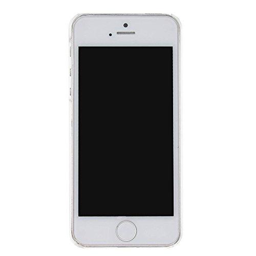 Voguecase® Pour Apple iPhone 5 5G 5S, Luxe Flowing Bling Glitter Sparkles Quicksand et les étoiles Hard Case étui Housse Etui(Triangle Quicksand-Argent) de Gratuit stylet l'écran aléatoire universelle Quicksand-Or